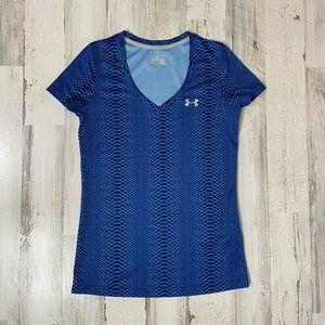 Under Armour royal blue print exercise t-shirt.